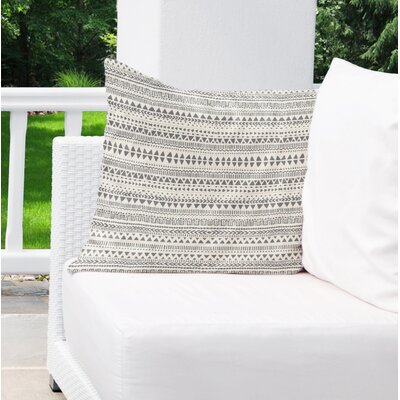 Christenson Indoor/Outdoor Throw Pillow Color: Tan/Gray, Size: 16 H x 16 W