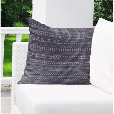 Christenson Indoor/Outdoor Throw Pillow Color: Blue/Purple, Size: 26 H x 26 W
