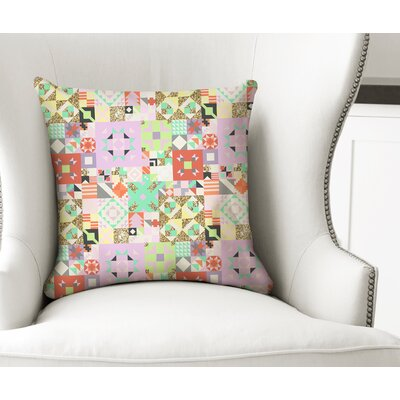 Chrisman Throw Pillow Color: Purple/Green/Orange/Gold, Size: 24 x 24