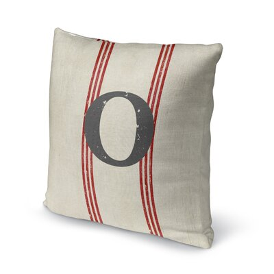 Fleece Throw Pillow Size: 16 H x 16 W x 4 D, Letter: O