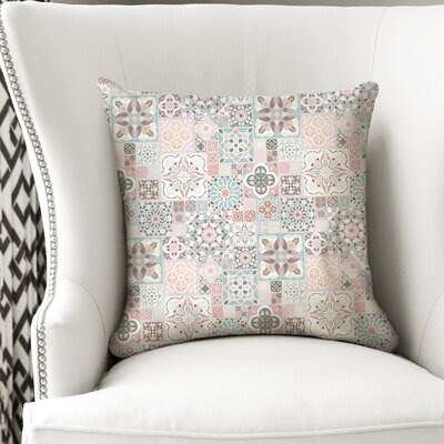 Chrisman Tiles Throw Pillow Size: 18 x 18