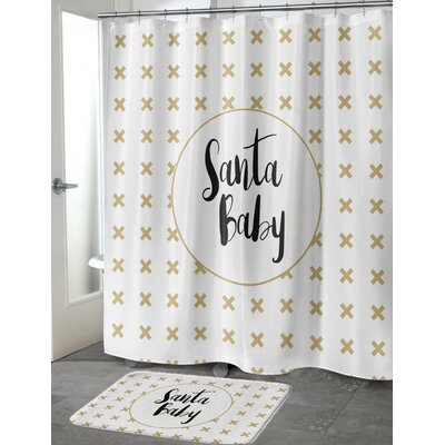 Santa Baby 90 Shower Curtain