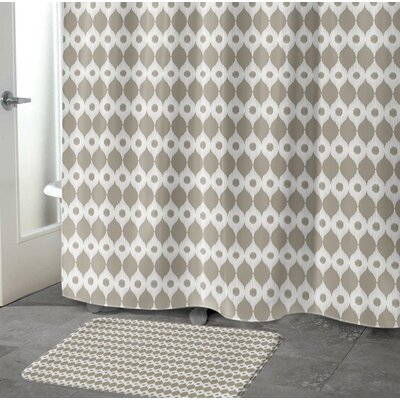 Forest Rain Memory Foam Bath Rug Size: 17 W x 24 L, Color: Brown/ Ivory