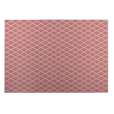 Lattice Work Indoor/Outdoor Doormat Color: Coral