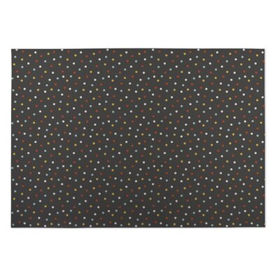 Night Sky Brown/Yellow/Red Indoor/Outdoor Doormat Rug Size: Rectangle 5 x 7