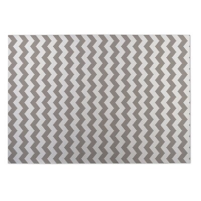 Play Chevron Beige/Brown Indoor/Outdoor Doormat Mat Size: Square 8