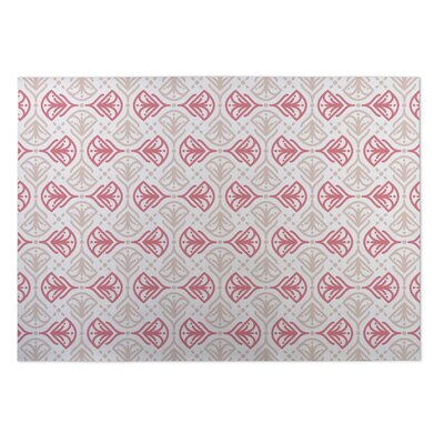 Kissing Tulips Indoor/Outdoor Doormat Color: Ivory/ Pink/ Tan