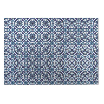 Blue Indoor/Outdoor Doormat Rug Size: Rectangle 5 x 7