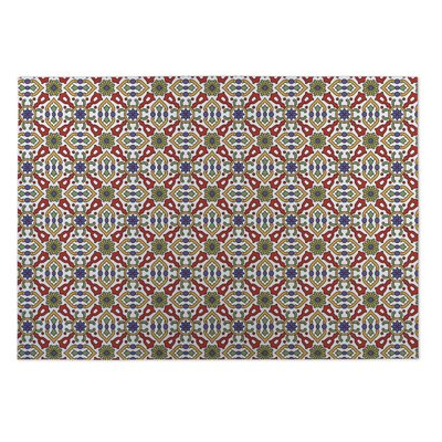 Red/Green Indoor/Outdoor Doormat Rug Size: Rectangle 5 x 7