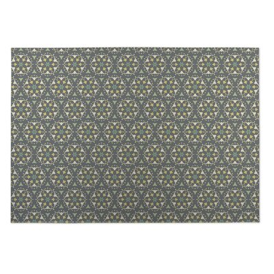 Gray Indoor/Outdoor Doormat Mat Size: Rectangle 8 x 10