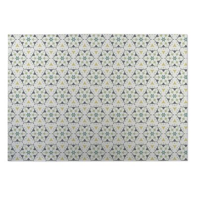 Kaleidoscope Indoor/Outdoor Doormat Color: Ivory/ Grey/ Yellow/ Green