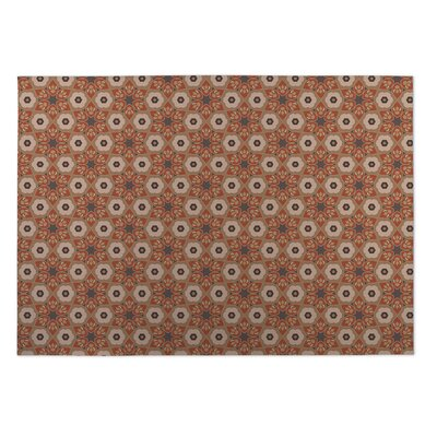 Rust/Gray Indoor/Outdoor Doormat Mat Size: Square 8