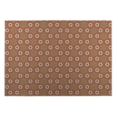 Rust Indoor/Outdoor Doormat Rug Size: Rectangle 5 x 7