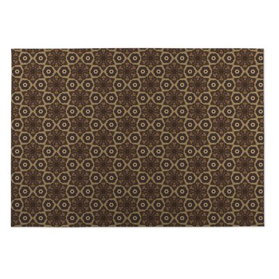 Chocolate Indoor/Outdoor Doormat Rug Size: Square 8