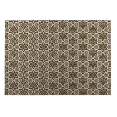 Tan Indoor/Outdoor Doormat Rug Size: Rectangle 4 x 5