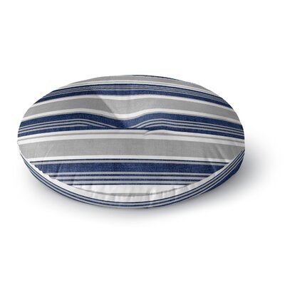 Sagamore Floor Pillow Size: 26 H x 26 W, Color: Blue/ Grey