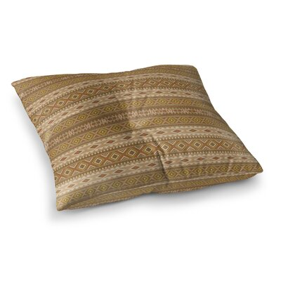 Sedona Square Floor Pillow Size: 26 H x 26 W x 12.5 D, Color: Red/Gold/Brown/Tan