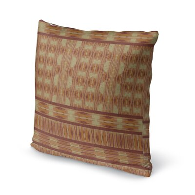 Appa Accent Pillow Size: 18 H x 18 W x 5 D, Color: Orange/ Beige