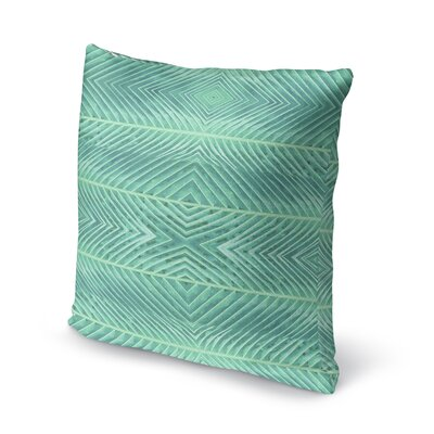 Palms Throw Pillow Size: 18 H x 18 W x 5 D, Color: Green