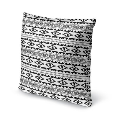 Cherokee Throw Pillow Size: 18 H x 18 W x 5 D, Color: Black
