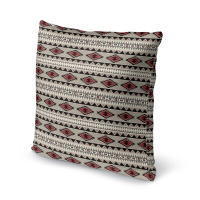 Cherokee Throw Pillow Size: 16 H x 16 W x 5 D, Color: Red, Tan