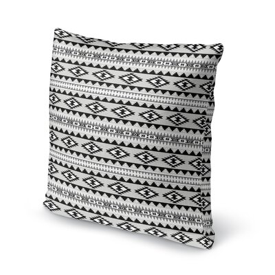 Cherokee Throw Pillow Size: 24 H x 24 W x 5 D, Color: Grey