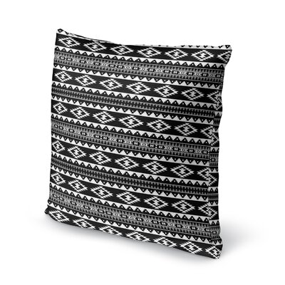 Cherokee Throw Pillow Size: 24 H x 24 W x 5 D, Color: Black/ White