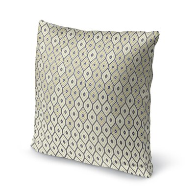 Honey Comb Accent Pillow Size: 16 H x 16 W x 5 D, Color: Gold/ Blue