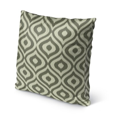Ikat Ogee Burlap Indoor/Outdoor Throw Pillow Size: 18 H x 18 W x 5 D, Color: Green