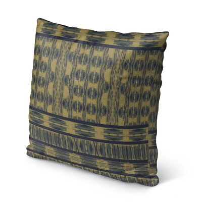 Appa Burlap Indoor/Outdoor Throw Pillow Size: 16 H x 16 W x 5 D, Color: Blue/ Beige