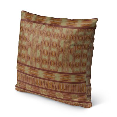 Appa Burlap Indoor/Outdoor Throw Pillow Size: 16 H x 16 W x 5 D, Color: Orange/ Beige