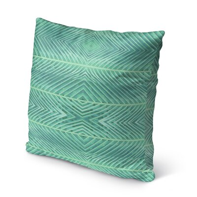 Palms Burlap Indoor/Outdoor Throw Pillow Size: 26 H x 26 W x 5 D, Color: Green
