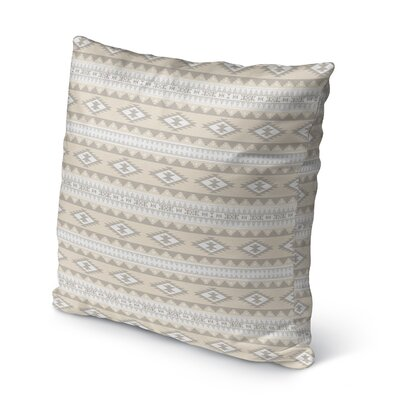 Cherokee Burlap Indoor/Outdoor Throw Pillow Size: 16 H x 16 W x 5 D, Color: Tan, Brown
