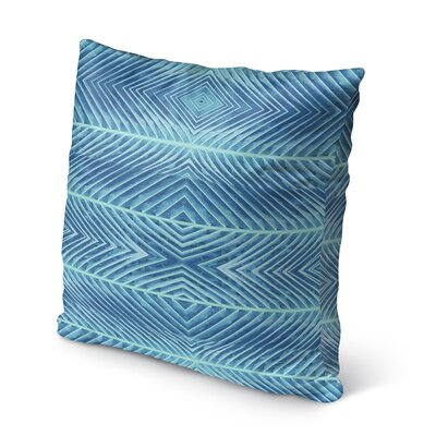 Palms Burlap Indoor/Outdoor Pillow Size: 16 H x 16 W x 5 D, Color: Blue