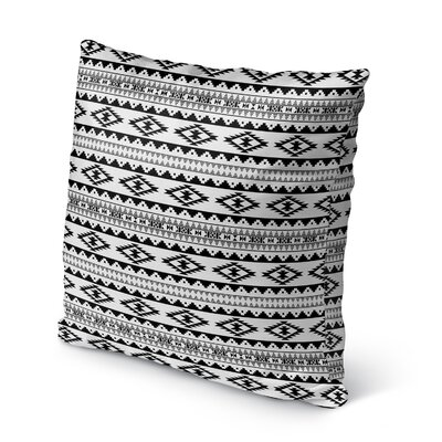 Cherokee Burlap Indoor/Outdoor Throw Pillow Size: 20 H x 20 W x 5 D, Color: Black