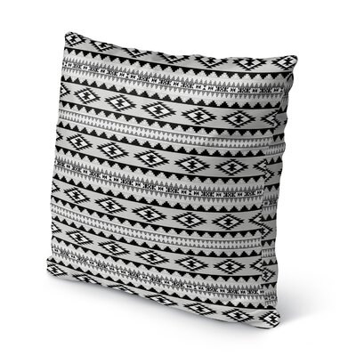 Cherokee Burlap Indoor/Outdoor Throw Pillow Size: 20 H x 20 W x 5 D, Color: Grey
