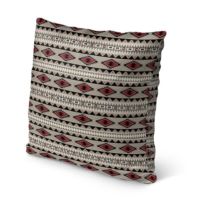 Cherokee Burlap Indoor/Outdoor Pillow Size: 16 H x 16 W x 5 D, Color: Red, Tan