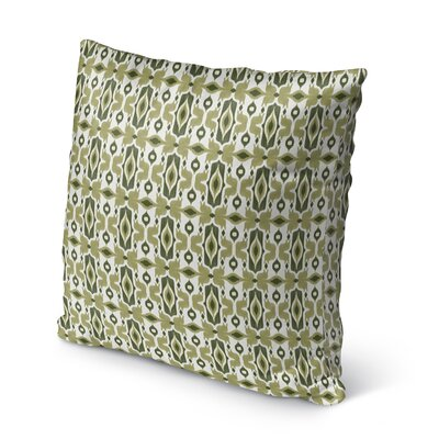 Cosmos Burlap Indoor/Outdoor Throw Pillow Size: 18 H x 18 W x 5 D, Color: Green/ Ivory