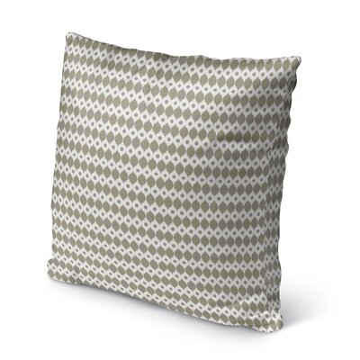 Forrest Rain Burlap Indoor/Outdoor Pillow Size: 16 H x 16 W x 5 D, Color: Brown/ Ivory