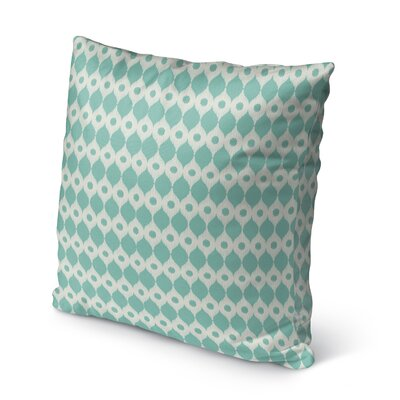 Forrest Rain Burlap Indoor/Outdoor Throw Pillow Size: 18 H x 18 W x 5 D, Color: Blue/ Ivory