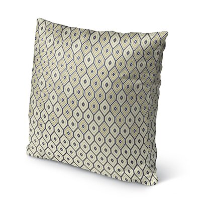 Honey Comb Burlap Indoor/Outdoor Throw Pillow Size: 18 H x 18 W x 5 D, Color: Gold/ Blue