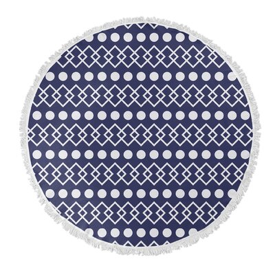 Chain/Dot Round Beach Towel