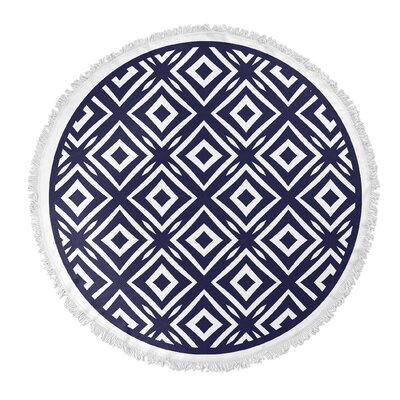Square Peg Round Beach Towel