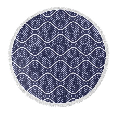 Flowing Ogee Round Beach Towel