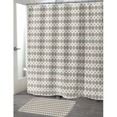 Forrest Rain Shower Curtain Color: Brown/ Ivory
