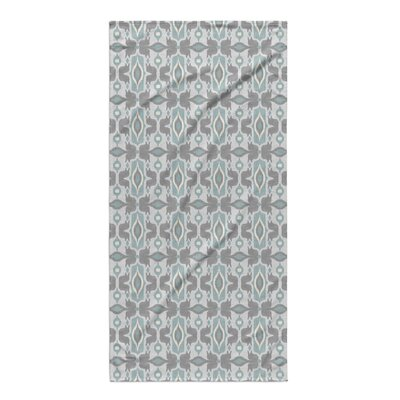 Cosmos Beach Towel Color: Ivory/ Turquoise/ Grey