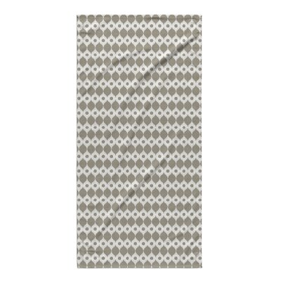 Forrest Rain Beach Towel Color: Brown/ Ivory