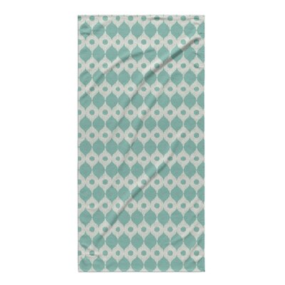 Forrest Rain Beach Towel Color: Blue/ Ivory