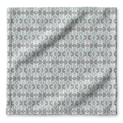 Cosmos Wash Cloth Color: Ivory/ Turquoise/ Grey