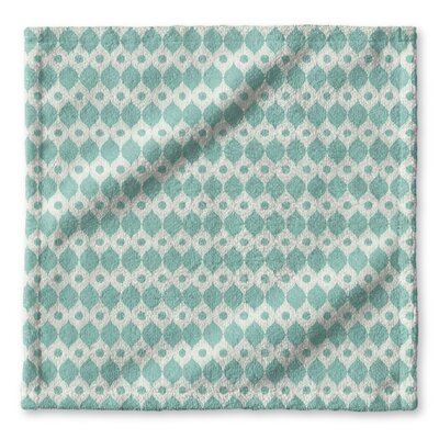 Forrest Rain Wash Cloth Color: Blue/ Ivory